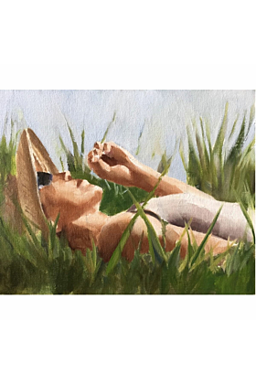Lazy Summer Days Painting In Print