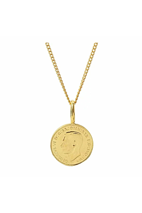Yellow Gold Plated English Farthing Charm