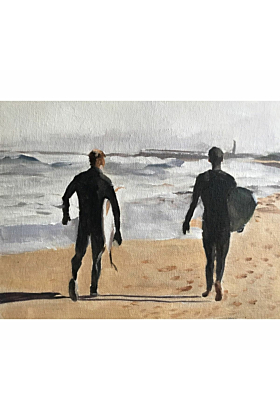 Surfing Painting In Print