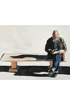 Man Reading Painting In Print
