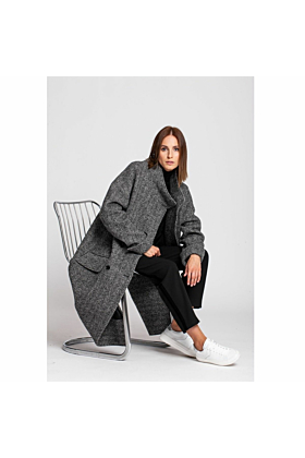 Distinct Women's Wool Grey Coat