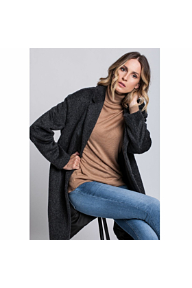 Wool Coat Serenity In Grey Mel
