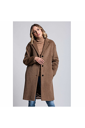 SALE Wool Coat Serenity In Camel