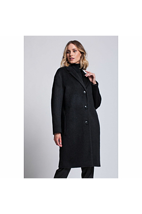Wool Coat Serenity In Black