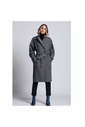 Women's Wool Coat Active In Grey