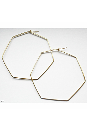 14kt Yellow Gold Plated G Hoop Earrings