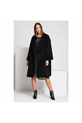 Wool Coat Fancy In Black