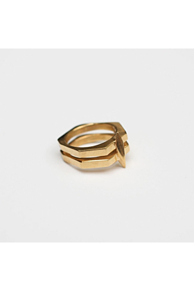 14kt Yellow Gold Plated DEIA Ring