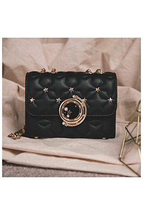 Dora Star Shoulder Bag In Black