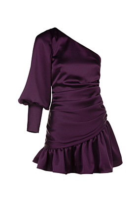 Purple Satin Verona Dress