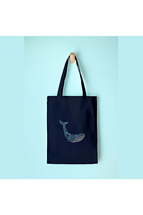 Whale Tote Embroidery Kit