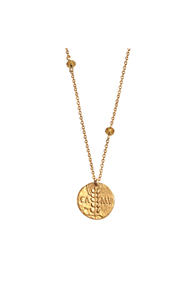 Wheat Sheaf Roman Necklace, 22ct Gold Plated