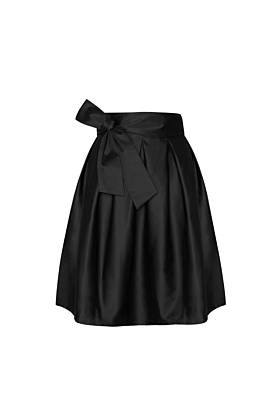 Wrap Skirt Midi Vintage Black