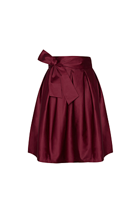 Wrap Skirt Midi Vintage Burgundy