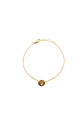 Yellow Gold Vermeil Wildflower Bracelet with a Diamond
