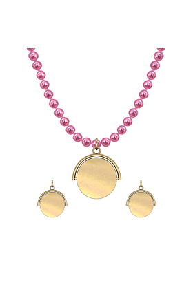 """Yellow Gold Plated Flicker Of Light Necklace - """"Blank"""""""