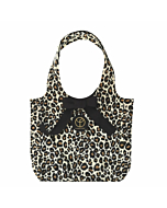 Small Faux Fur Leopard Print Hobo Bag