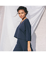 Organic Cotton Relaxed Pyjama in Blue