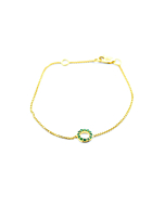 14kt Yellow Gold Beautiful Emerald Bracelet