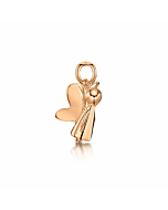 Rose Gold Guardian Angel Charm | Becky Rowe