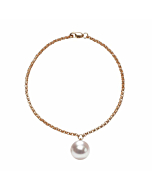 14kt Yellow Gold Plated & White Freshwater Pearl Alba Bracelet