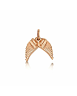 Rose Gold Angel Wings Small Pendant Charm | Becky Rowe