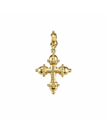 Granulated Cross Charm