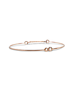 9kt Rose Gold Oro Rosa Diamanti Bracelet