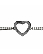 Black Rhodium Live Laugh Love Chain Bracelet