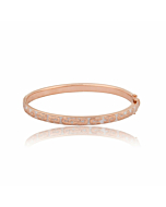 Caleb Rose Gold Vermeil Enamel Bangle