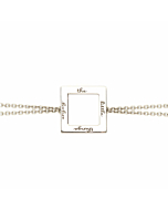 Enjoy the Little Things Chain Bracelet