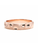 14kt Gold Classic Hammered Wedding Band