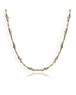 Contemporary Sterling Silver & 9kt Gold Necklace