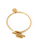18kt Gold Single Loop Aurora Bracelet