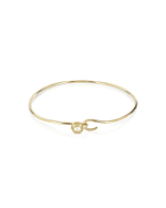 Yellow Gold Caged Pearl Bangle