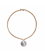 14kt Yellow Gold & Grey Pearl Alba Bracelet