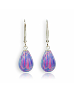 9kt Gold & Large Purple Teardrop Earrings