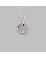 Sterling Silver Circle Necklace | No. 02