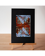 Matted Fine Art Print | Red Brick Stepped Gables