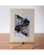 Matted Print | Bruges Canals