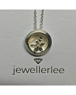 Silver Handmade In A Bubble Busy Bee Pendant