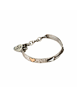 Sterling Silver & 9ct Gold Cupid Bangle