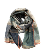 Handwoven Cotton & Tussar Silk Infinity Scarf