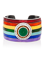 18kt White Gold Enamel Somewhere Over The Rainbow Cuff