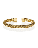 18kt Yellow Gold Plated Cuff Bracelet for Men