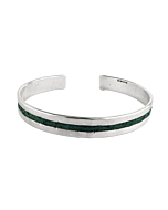 Nord Collection | Elemental Series sterling silver and salmon leather slim cuff bracelet