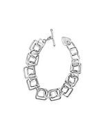 Sterling Silver Harmony Double Squares Bracelet