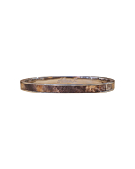Silver Single Brown Leather Bangle