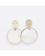 18kt Yellow Gold Plated Nacre Earrings