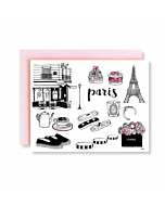 Paris City Greetings Card